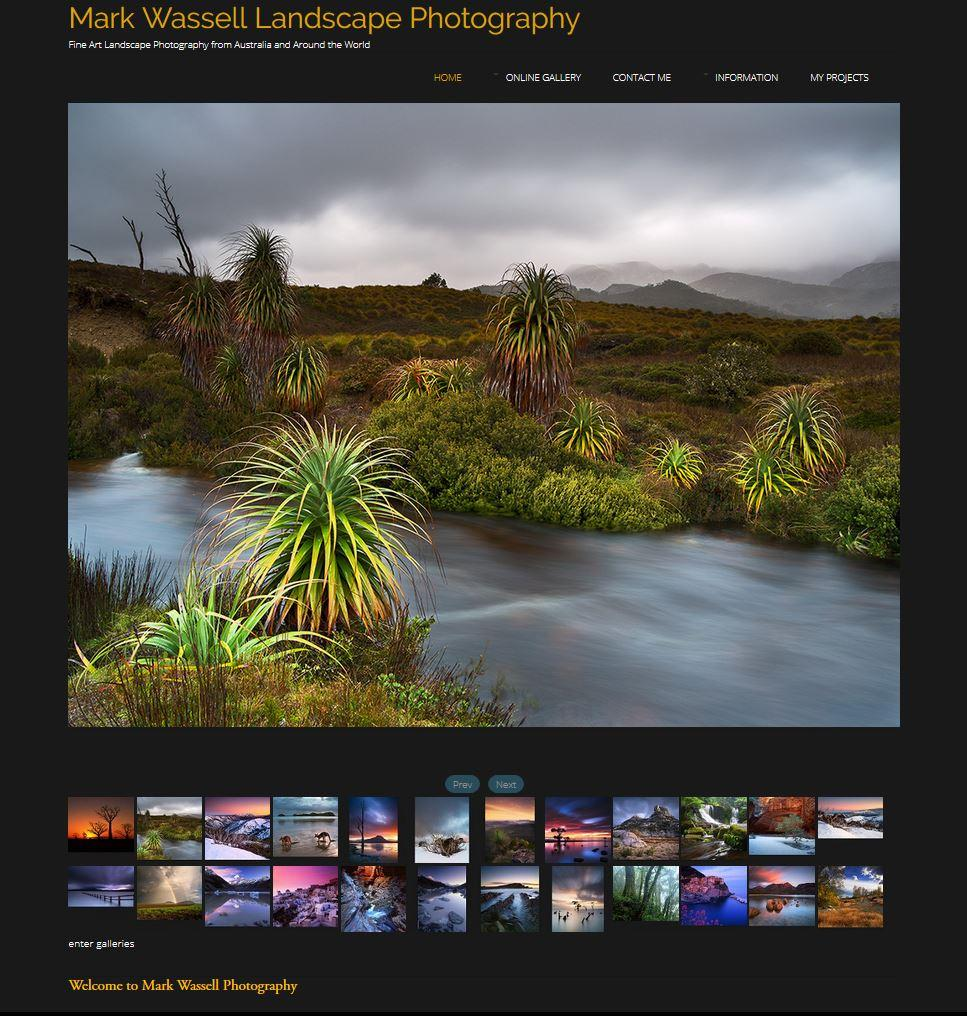 Mark Wassell Landscape Photography - website renovation